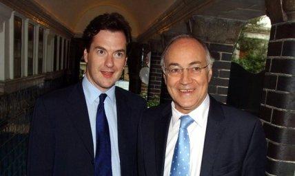 George Osbourne and Michael Howard